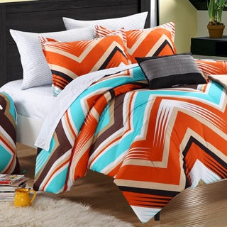 Chic Home Ziggy Zag Peach 9-piece Dorm Room Bedding Set