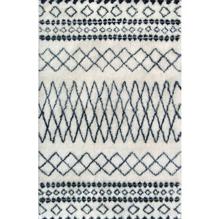 Beni Ourain Moroccan Ivory Wool Area Rug (5' x 8')