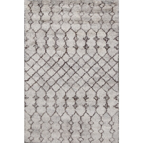 ABC Accents Beni Ourain Moroccan Grey Wool Area Rug