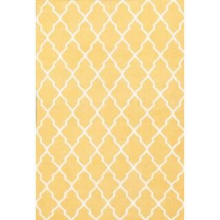 Handmade Moroccan Trellis Sunshine Wool Rug (8' x 10')
