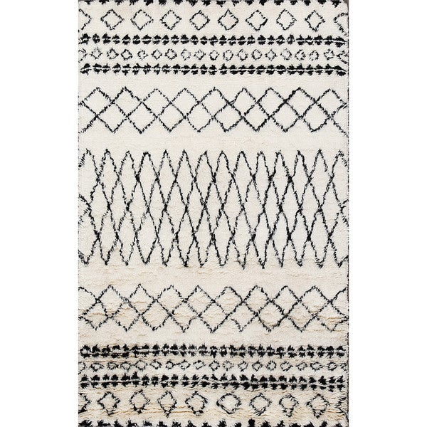 Beni Ourain Moroccan Ivory Wool Area Rug (8' X 10