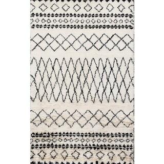 Beni Ourain Moroccan Ivory Wool Area Rug (8' x 10')
