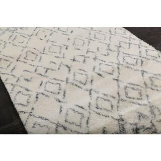 Beni Ourain Moroccan Beige Wool Area Rug (8' x 10')