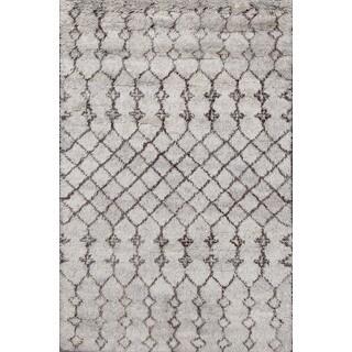 Beni Ourain Moroccan Grey Wool Area Rug (8' x 10')