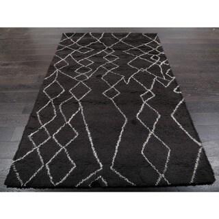 Beni Ourain Moroccan Charcoal Grey Wool Area Rug (8' x 10')
