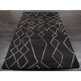 Beni Ourain Moroccan Charcoal Grey Wool Area Rug (9' x 12')