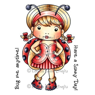 "La-La Land Cling Mount Rubber Stamps 4""X3""-Ladybug Marci"