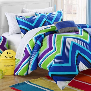 Chic Home Ziggy Zag Blue Dorm Room Bedding Set