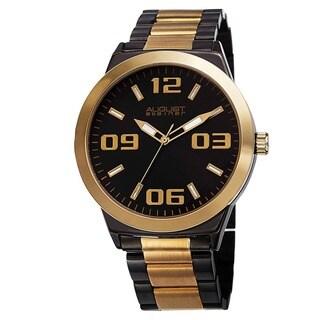 August Steiner Men's Swiss Quartz Stainless Steel Bracelet Watch