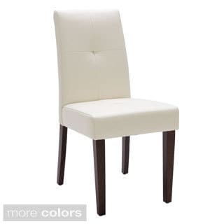 Sunpan Cleo Bonded Leather Dining Chair (Set of 2)