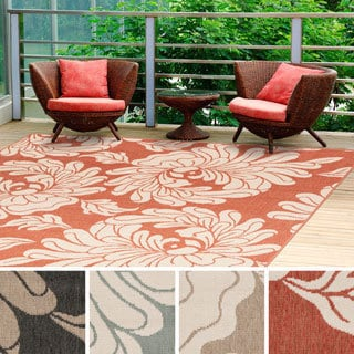 Meticulously Woven Noelle Contemporary Floral Indoor/Outdoor Area Rug (7'3 Square)
