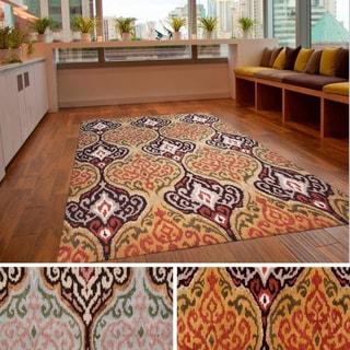 Hand-Tufted Aaron Ikat Neww Zealand Wool Area Rug (2' x 3')