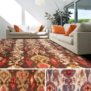 Hand-Tufted Lee Ikat Neww Zealand Wool Area Rug (8' x 11')
