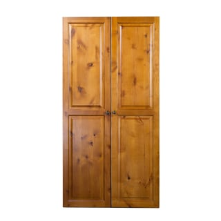The Craftbox Knotty Alder Storage/ Craft Armoire