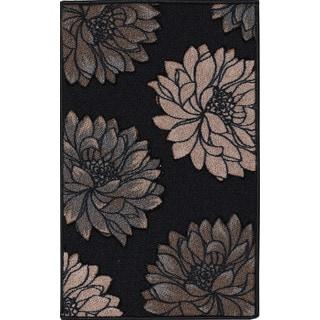 Cali Black Indoor Mat (3' x 5')