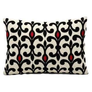 Nourison Kathy Ireland Ivory/ Black/ Red Accent Pillow