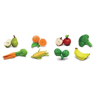 Plastic Miniatures In Toobs-Fruits & Vegetables