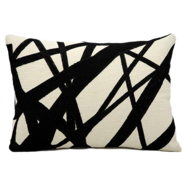 Black And Ivory Throw Pillows : Nourison Kathy Ireland Black/ Ivory Accent Pillow - Overstock Shopping - Great Deals on Nourison ...