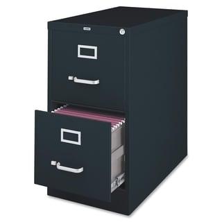 Lorell LLR60661 Black 2-drawer Vertical File Cabinet