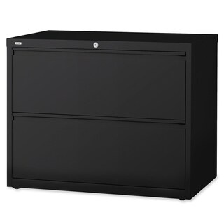 Lorell LLR60554 Black 2-drawer Lateral Files