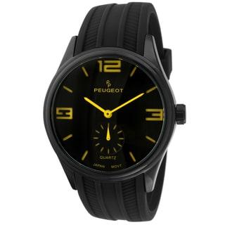 Peugeot Men's 2042YBK Black Rubber Sport Watch