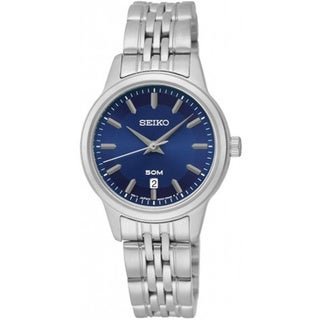 Seiko Women's SUR897 Classic Blue Dial Stainless Steel Watch