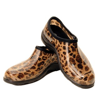 Garden Outfitters Women's Rain and Garden Leopard Print Shoes (Size 8)