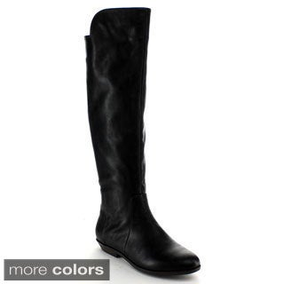 Nature Breeze Women's 'Bentley-01' Solid Knee-high Boots