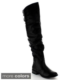 Nature Breeze Women's 'Olympia-01' Over-the-Knee Boots