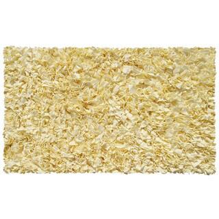 Shaggy Raggy Yellow Cotton Area Rug (4'7 x 7'7)