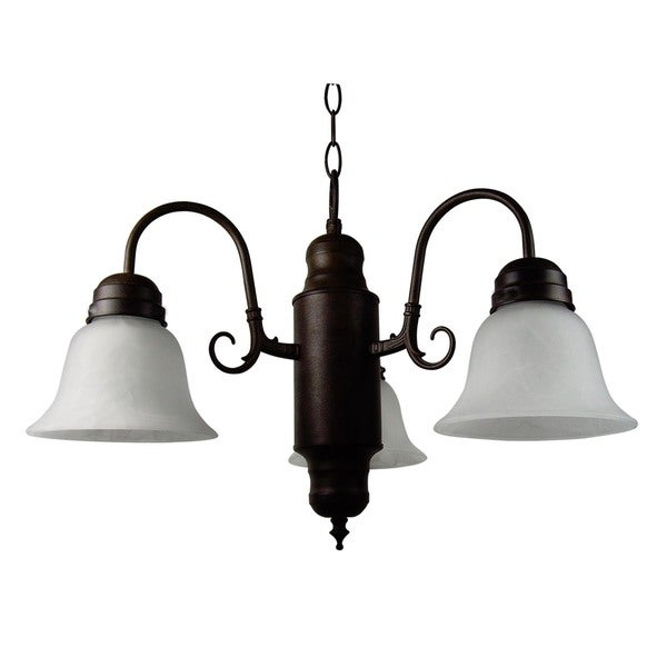 3-light Single tier Bell Shade Chandelier
