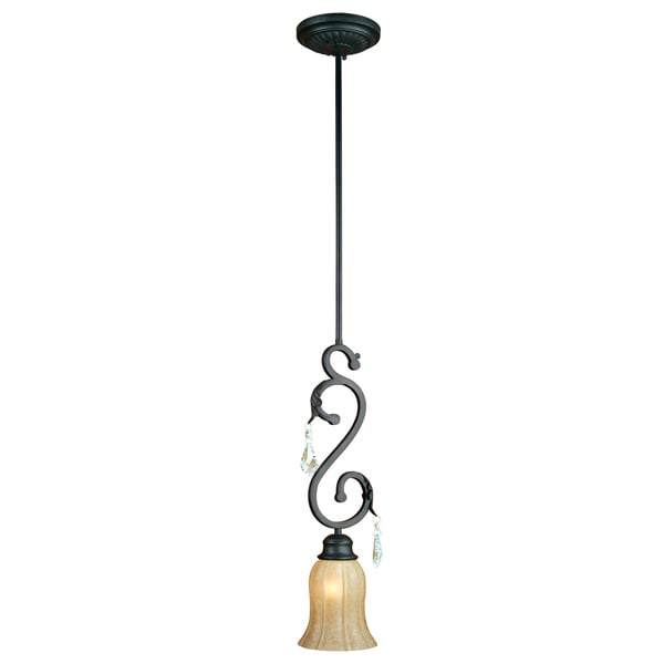 Single Light Sierra Slate Mini pendant