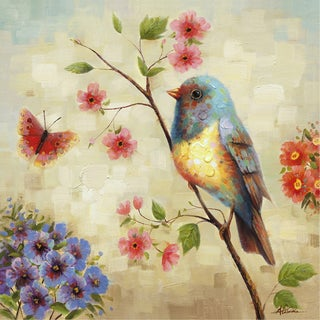 Yosemite Home Decor 'Birdsong' Cotton Canvas