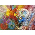 Yosemite Home Decor 'Cyclonic Abstraction' Cotton Canvas