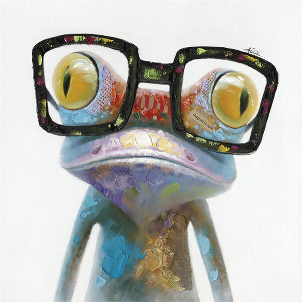 Hipster Froggy Cotton Canvas