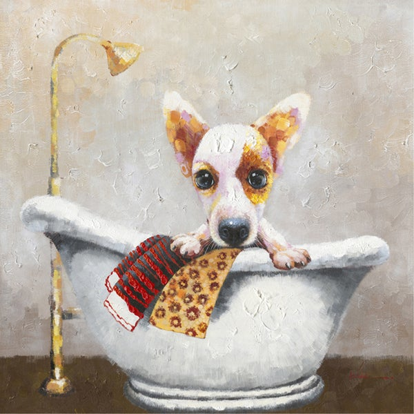 Bath Time Cotton Canvas