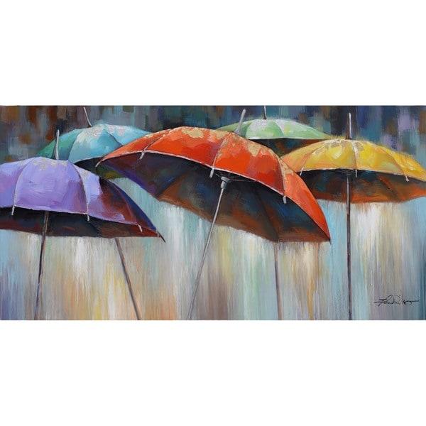 Umbrellas Cotton Canvas