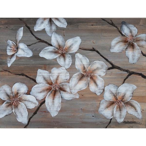 Wooden Blossom Cotton Canvas