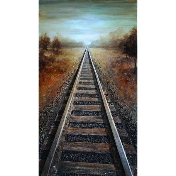 Vanishing into the Distance Cotton Canvas