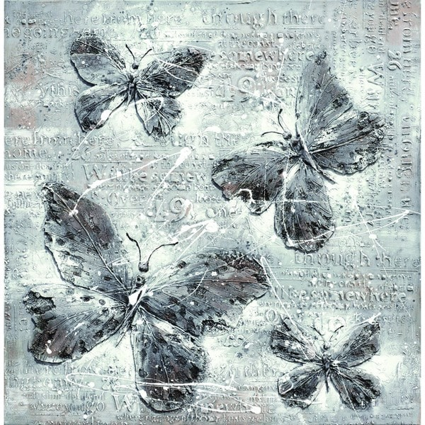Butterfly Impressions Cotton Canvas
