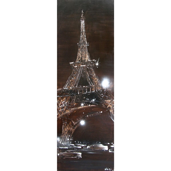 Sparkling Eiffel Cotton Canvas