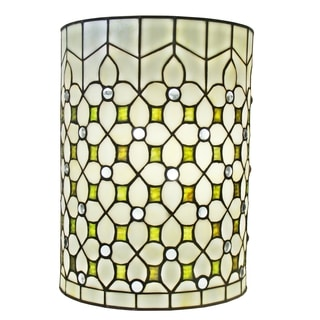 Amora Lighting Tiffany Style Jeweled 13.5-inch Wall Lamp