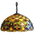 Amora Lighting Tiffany Style Wide 14-inch 2-light Hanging Lamp