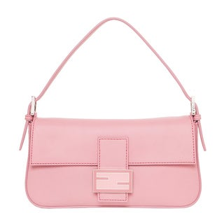 Fendi Pink Leather Baguette with Interchangeable Straps