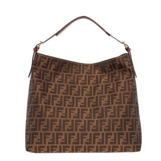 Fendi Large Zucca Canvas Hobo Bag