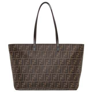 Fendi Zucca Pattern and Teal Tote