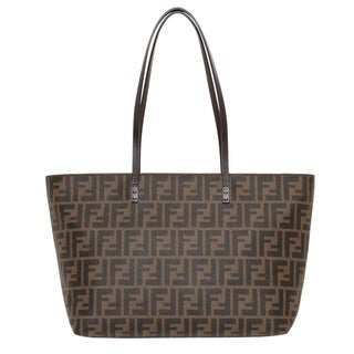 Fendi Small Zucca Pattern Canvas Tote