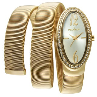 Peugeot Women's 7088G Goldtone Spiral Snake Watch