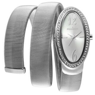 Peugeot Women's 7088S Silvertone Spiral Snake Watch
