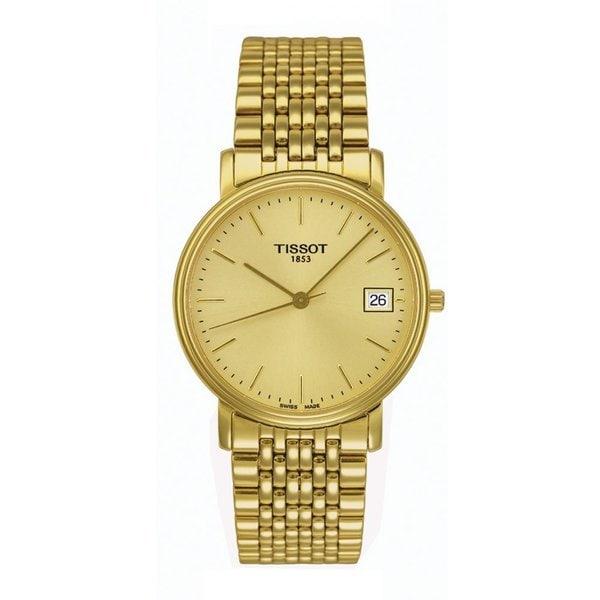 Tissot Men's T52.5.481.21 'T-Classic Desire' Goldtone Stainless Steel Watch